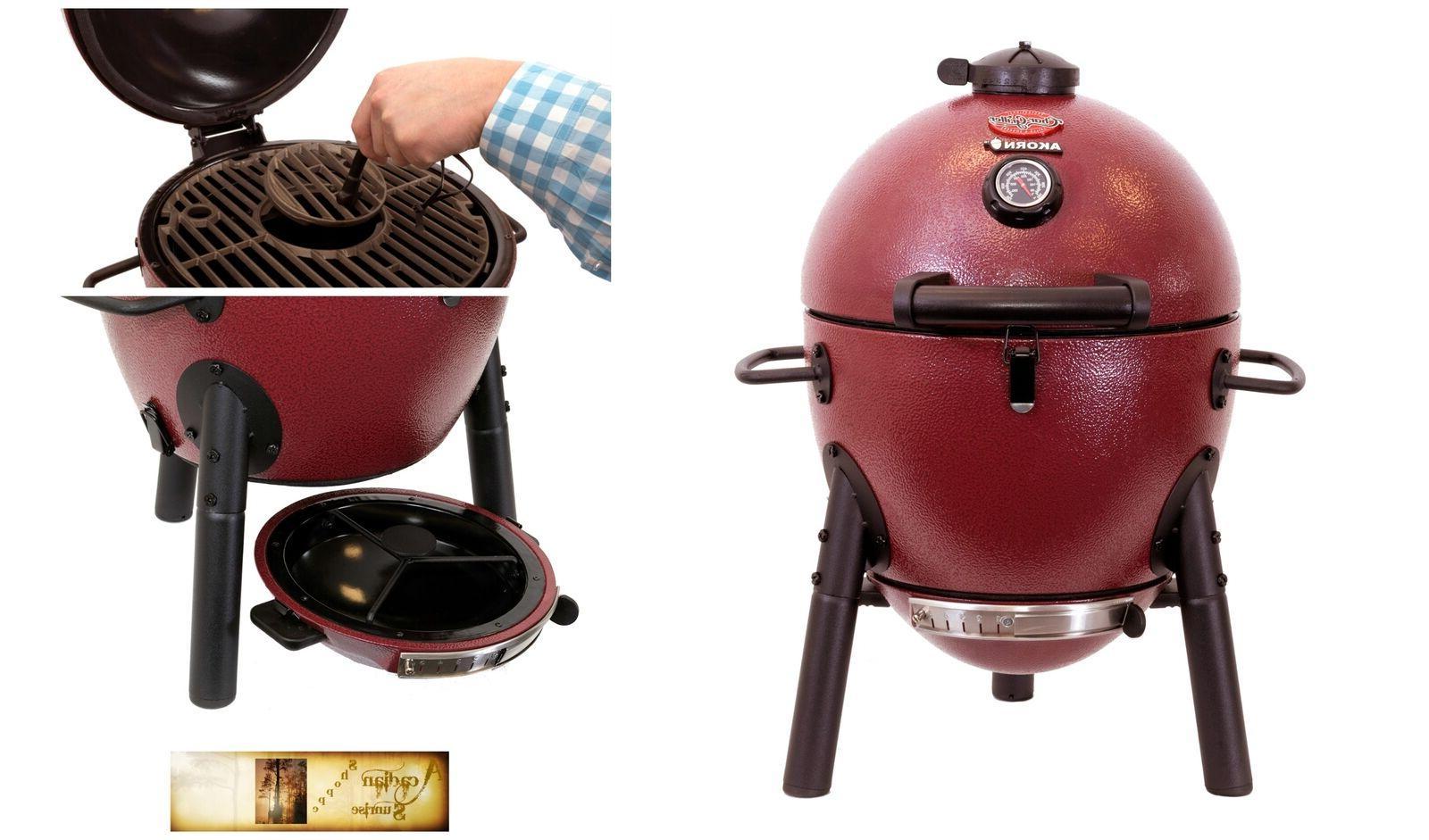 Char AKORN Jr Charcoal Cooking BBQ Tailgate Grill
