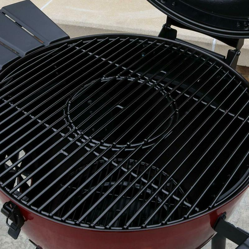 Char-Griller E14822 Red Kettle and Smoker