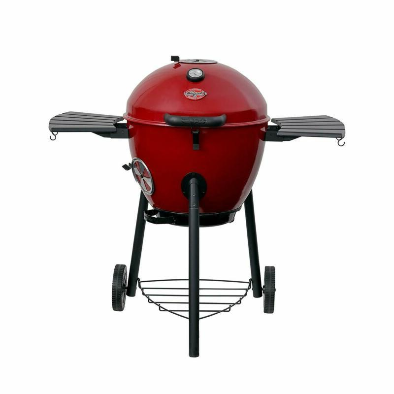 char griller e14822 premium red kettle charcoal