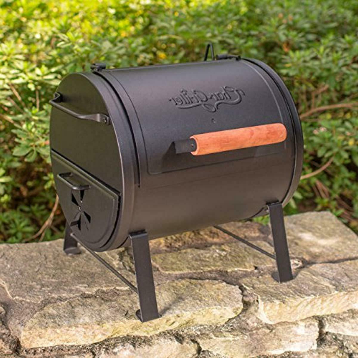 Char-Griller E22424 Charcoal Grill Side Fire Black
