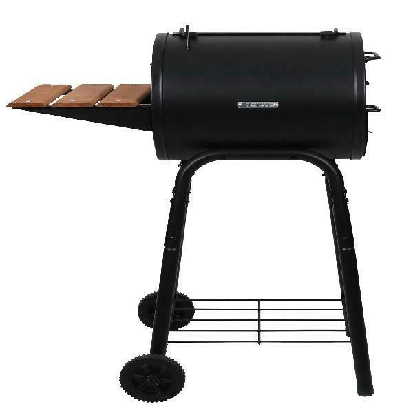 Char-Griller Patio Pro cooking heavy