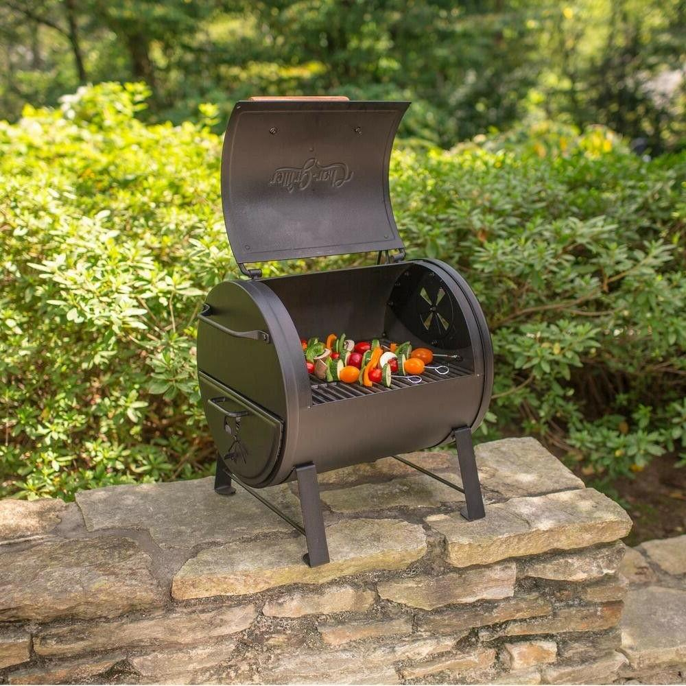 char griller side fire box portable table