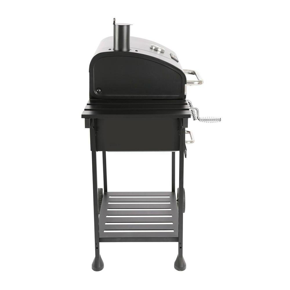 Charcoal Gourmet Black 2-Side Outdoor Cooking Inch