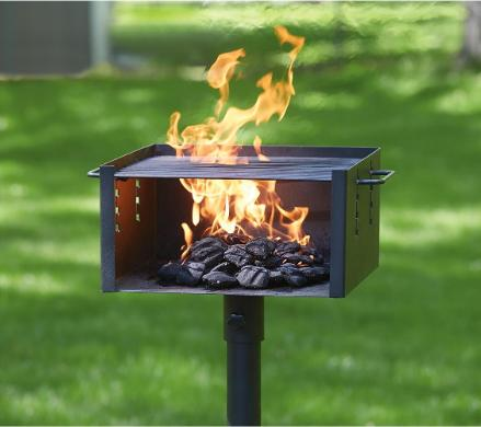 Charcoal Grill Outdoor Park Style 4 Flame