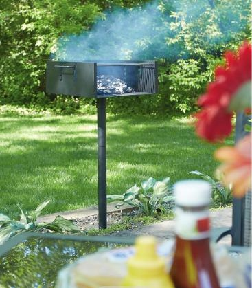 Charcoal BBQ Park Grill 4 Flame