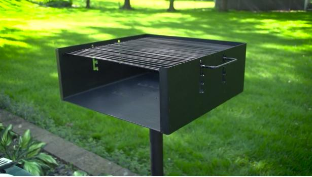 Charcoal BBQ Outdoor Park 4 Flame Adjustment