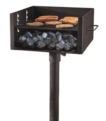 charcoal bbq grill outdoor park style large