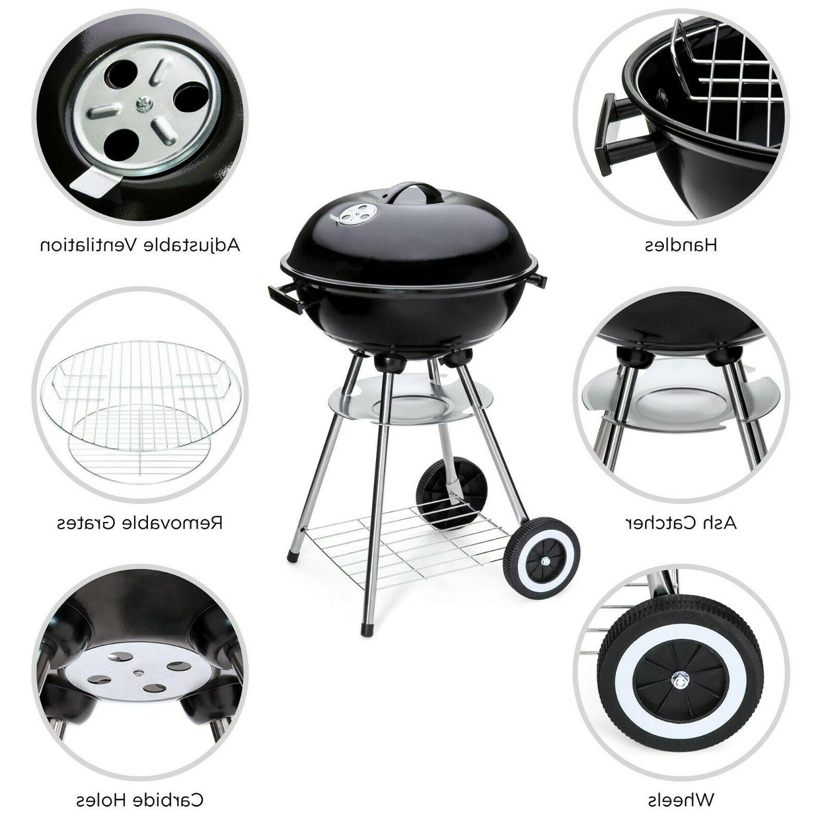 Charcoal Weber Silver Jumbo Joe Kettle Grill Black