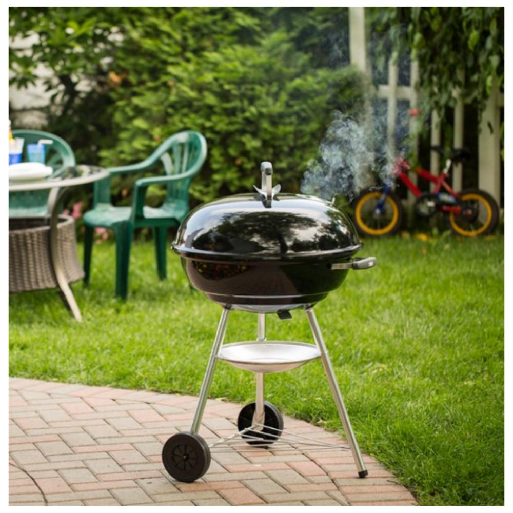Charcoal BBQ Weber Silver Jumbo Kettle Grill NEW