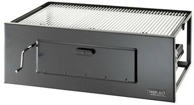 charcoal built in grill lift a fire