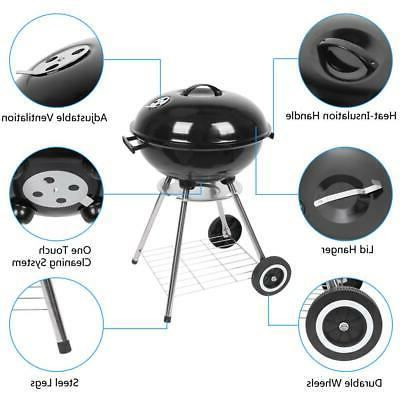 Charcoal BBQ Smoker Barbecue Backyard