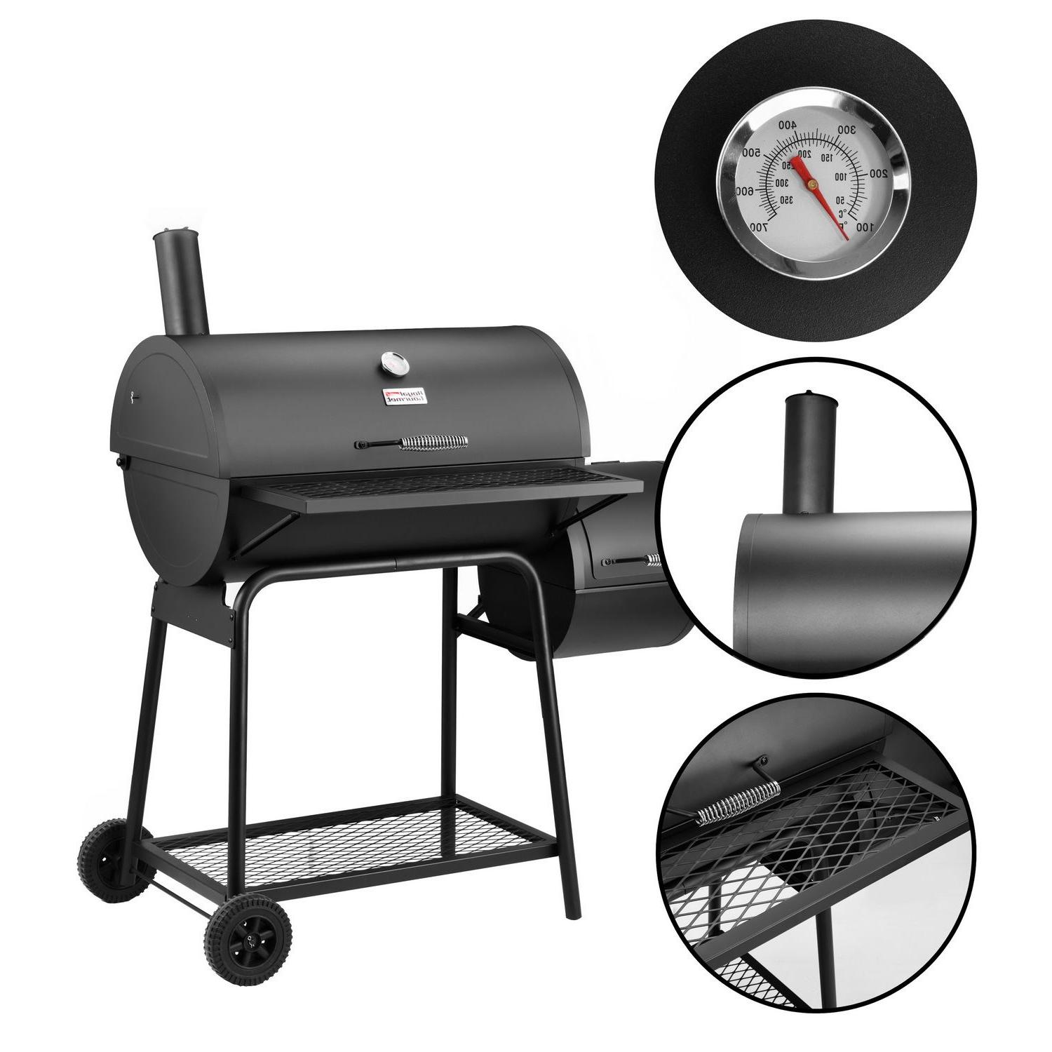 Royal Gourmet with Smoker BBQ Backyard