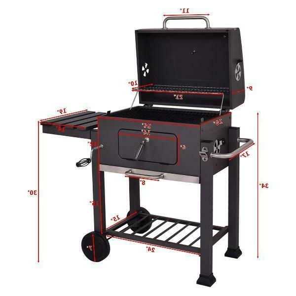 Costway Charcoal Grill Barbecue Bbq Grill Outdoor Patio