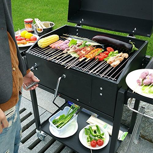 Ainfox Grill, Outdoor Backyard Cooking,Black