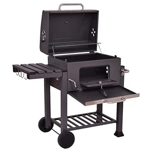 COSTWAY Charcoal Grill Outdoor Patio by Coconut Shell