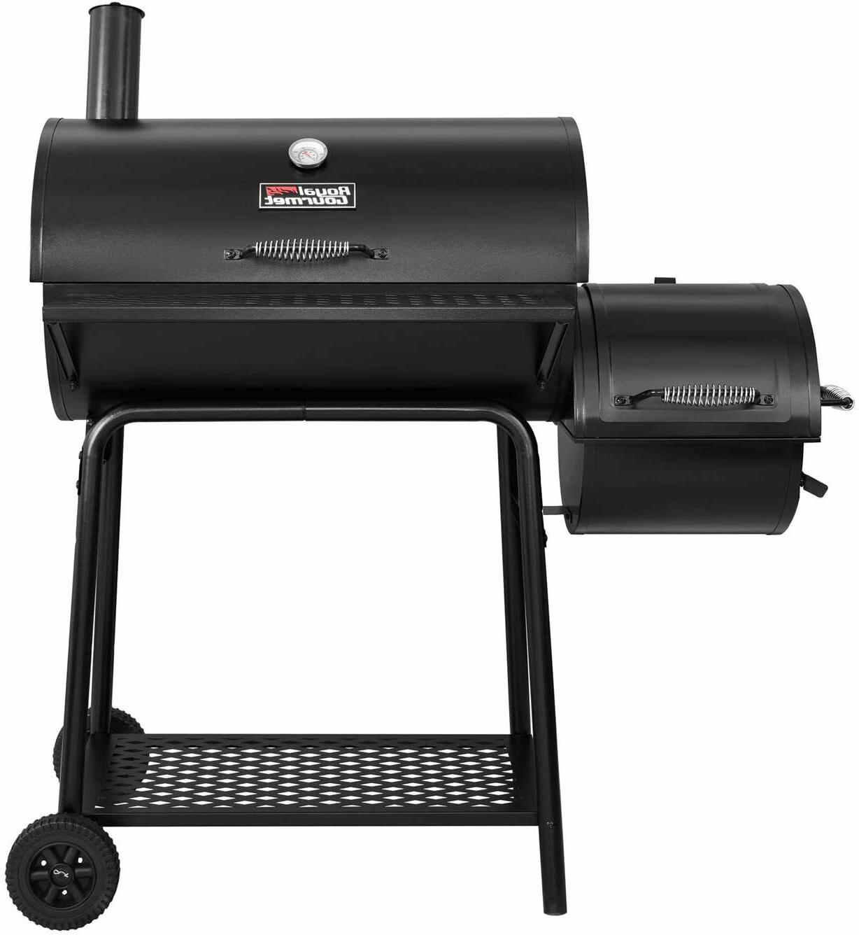 Royal Gourmet Grill with Offset Smoker, Black