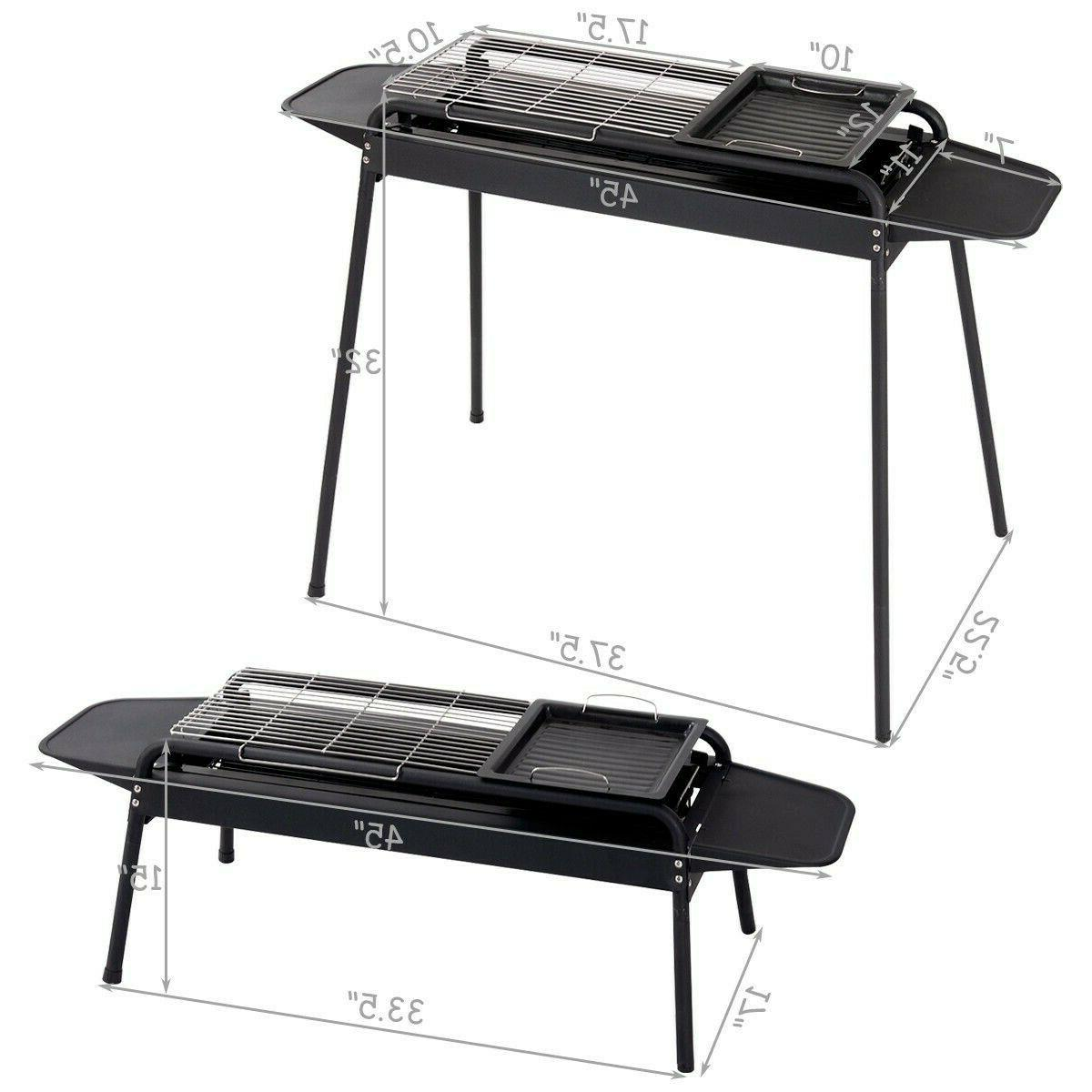 Charcoal Grill BBQ Barbecue Adjustable