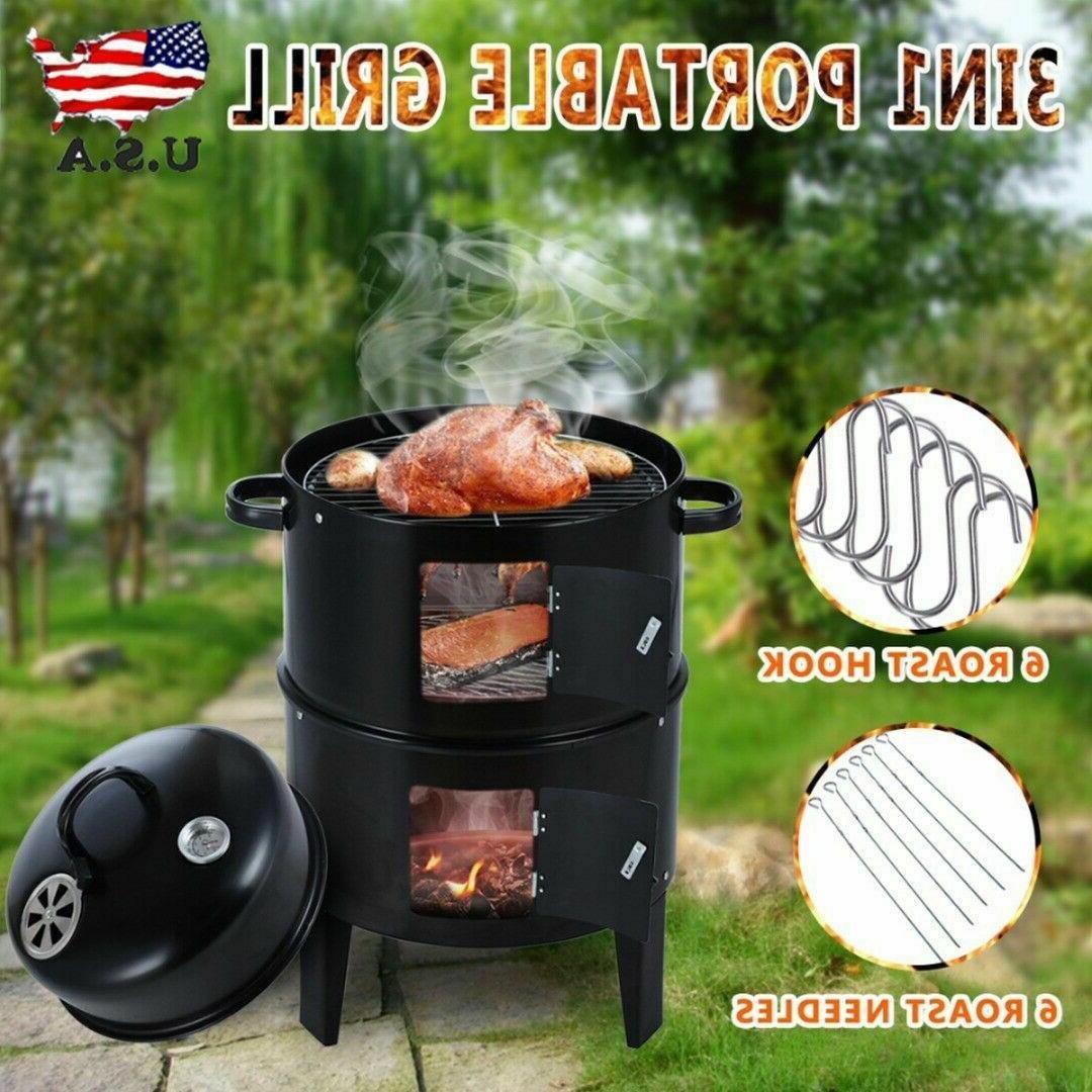 Charcoal Smoker Grill Backyard Patio