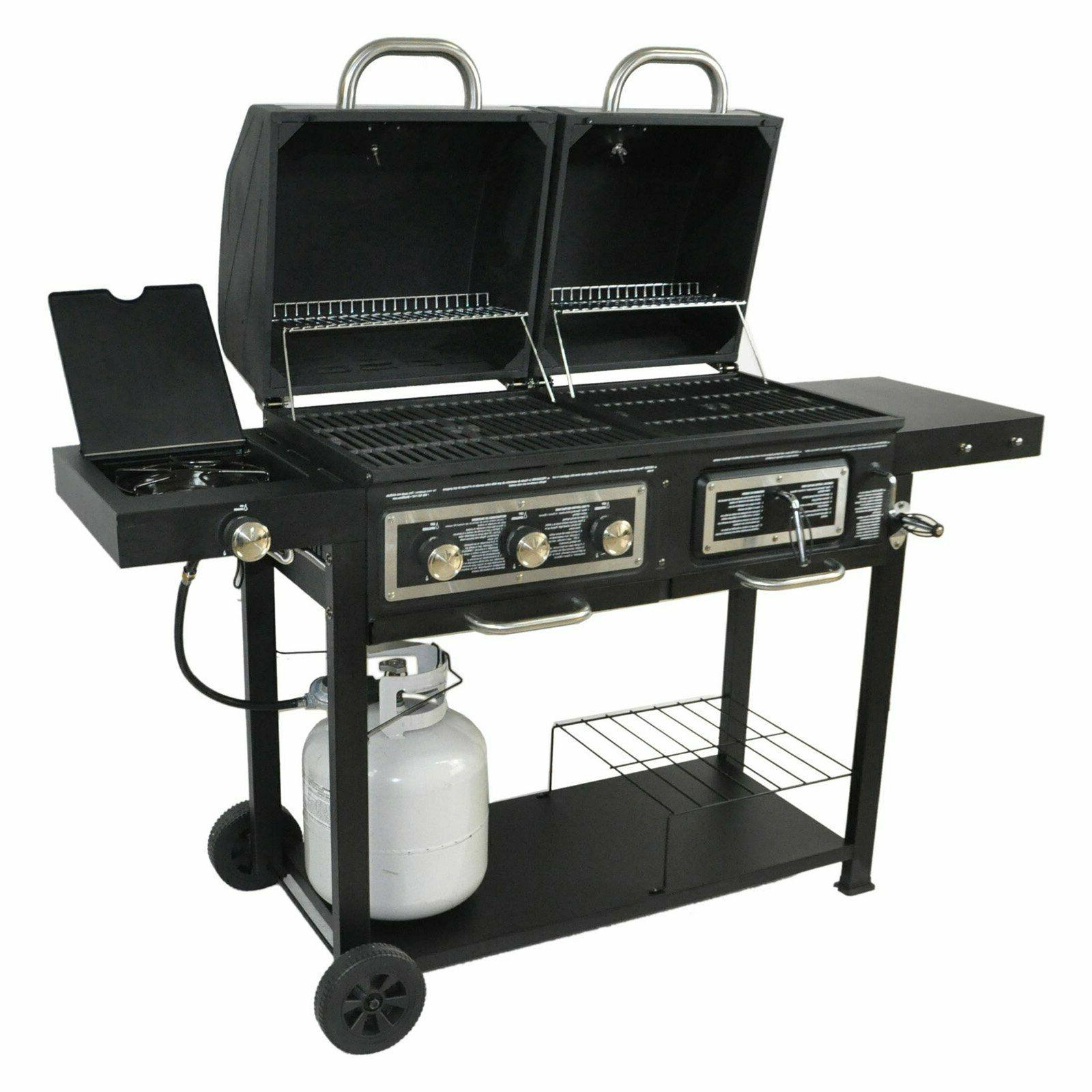Combo Gas BBQ Barbecue w/ Side Burner