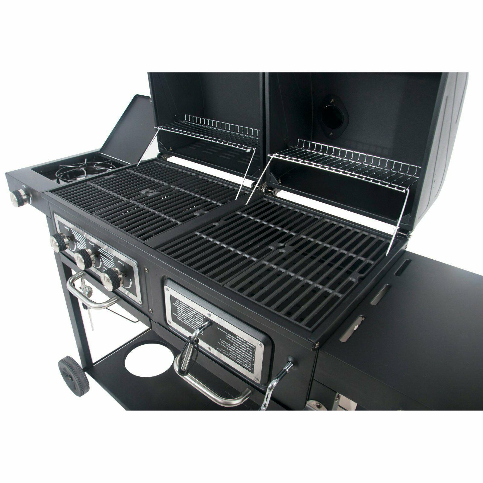 Combo Gas Charcoal BBQ w/ Burner