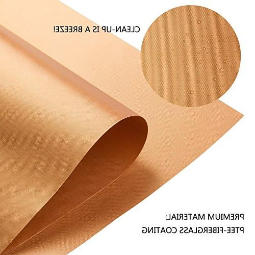 Copper Bake Mat 5 Stick Grill - Reusable, Clean Fiber Roast Sheets for Gas, Grill