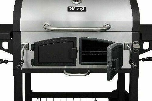 Dyna-Glo DGN576SNC-D Dual Zone Premium Charcoal Grill, X-Lar
