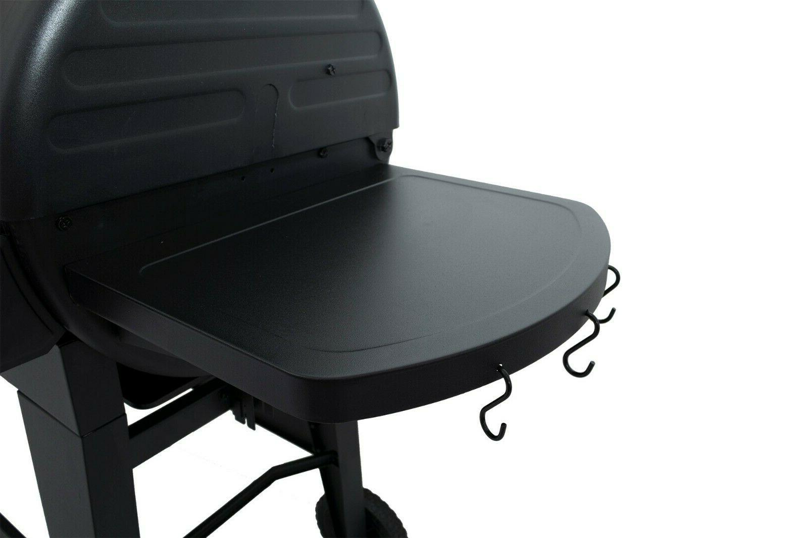 Dual 2 Grill Side Tables Pan Barbecue