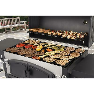 Charcoal Grill Dual Barbecue Cooker Camping Picnic Smoker