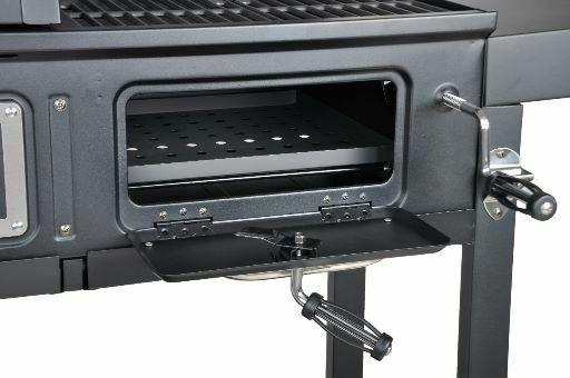 Dual Fuel Combo Grill cooking that