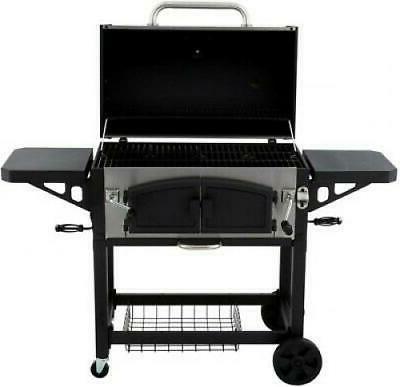 dyna glo charcoal bbq grill smoke dual