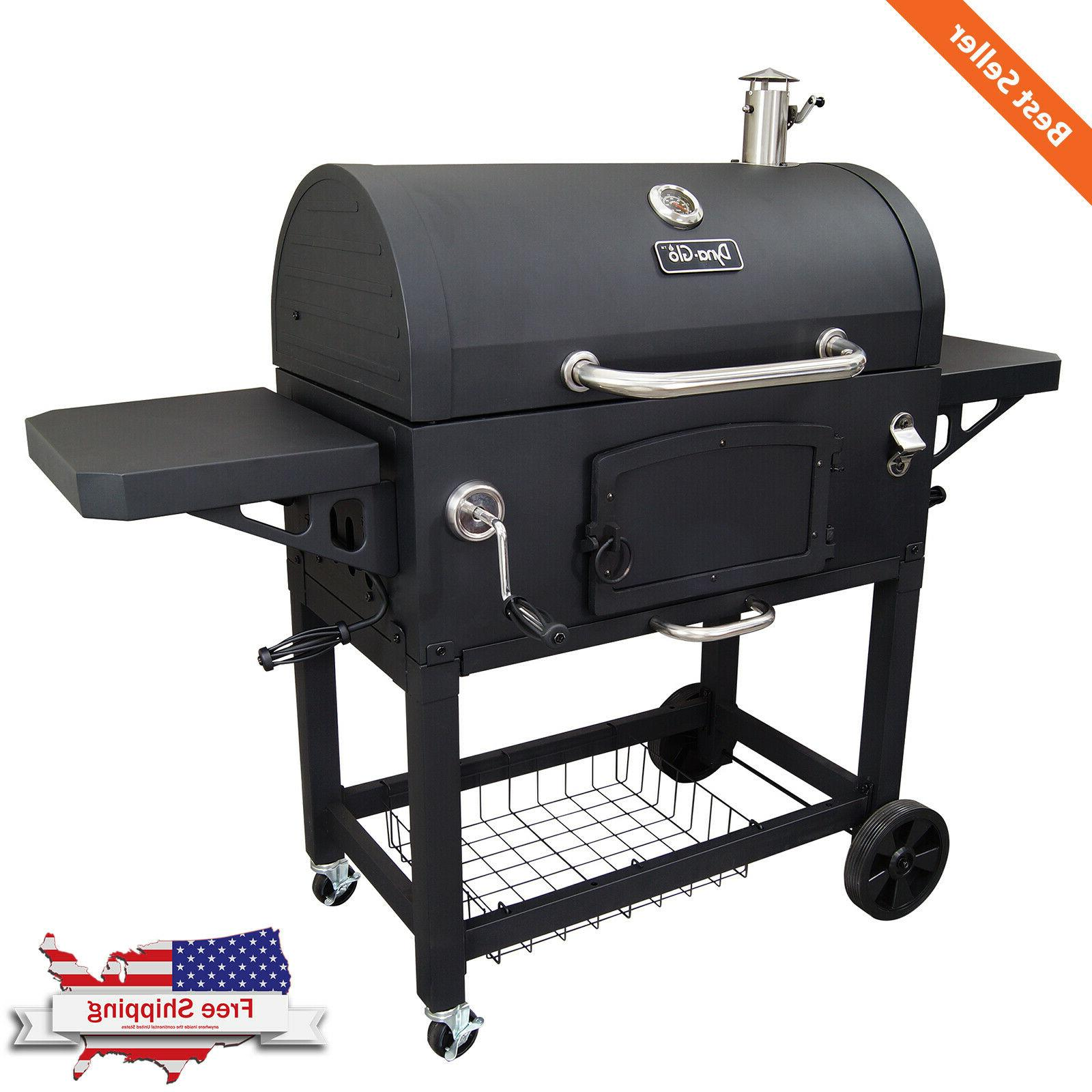 Extra Large Charcoal BBQ Grill Heavy Duty Dual Chamber Easy