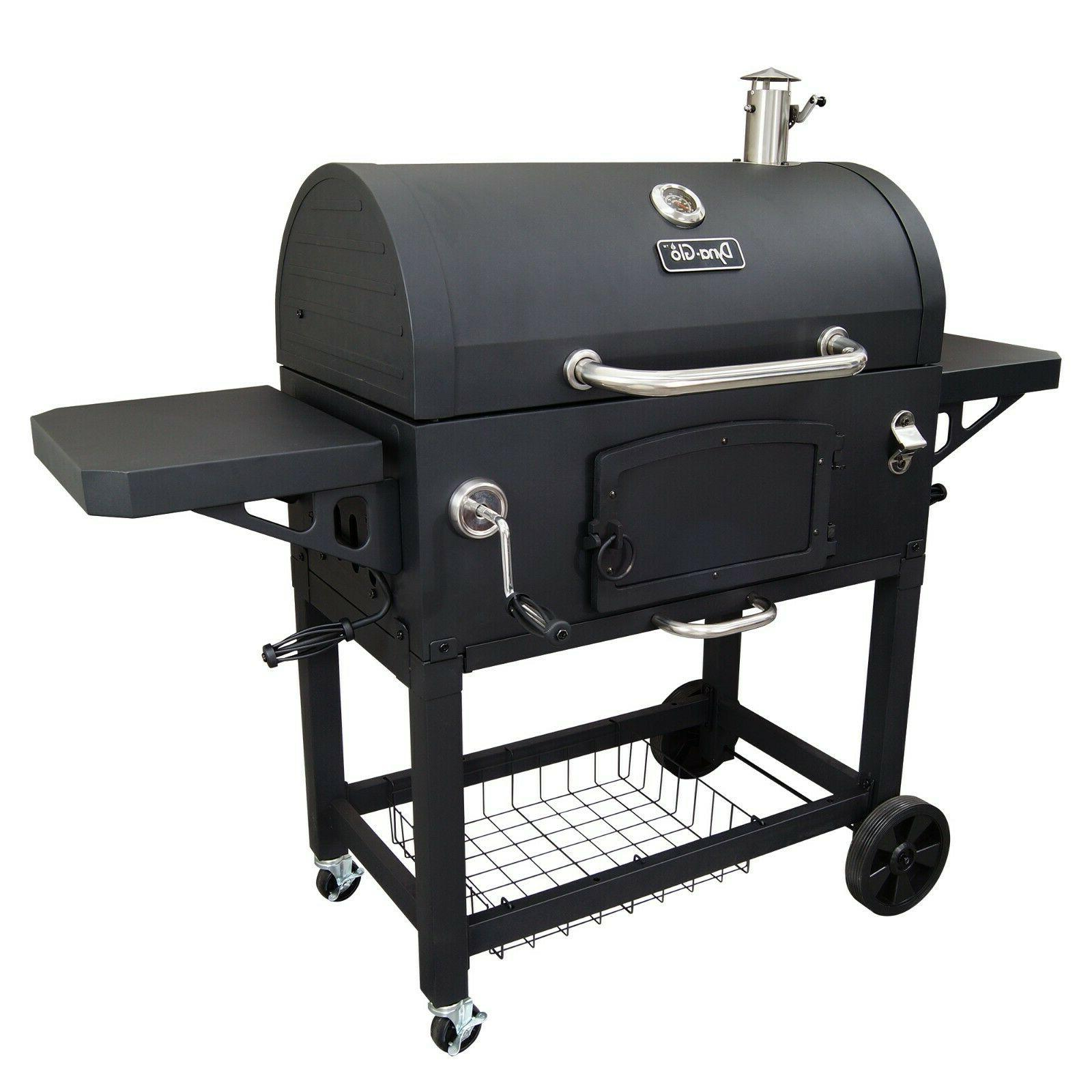 X-Large Heavy-Duty Charcoal Grill Primary w Secondary Cast I