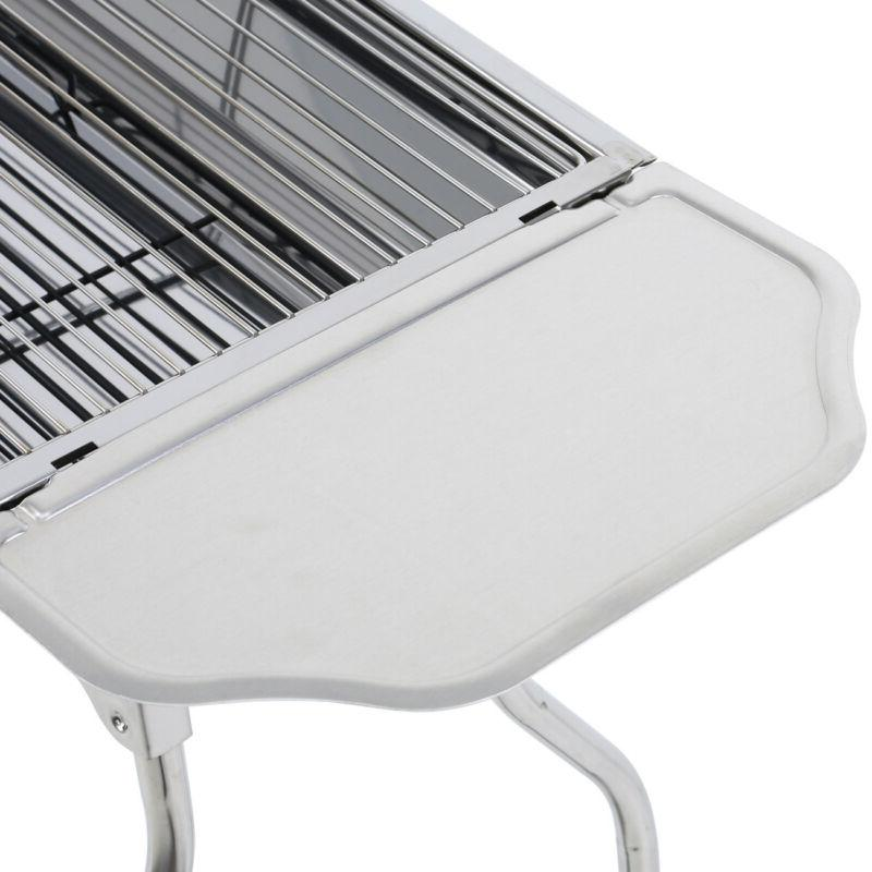 Fold Charcoal Grill Stove Steel BBQ Patio Camping