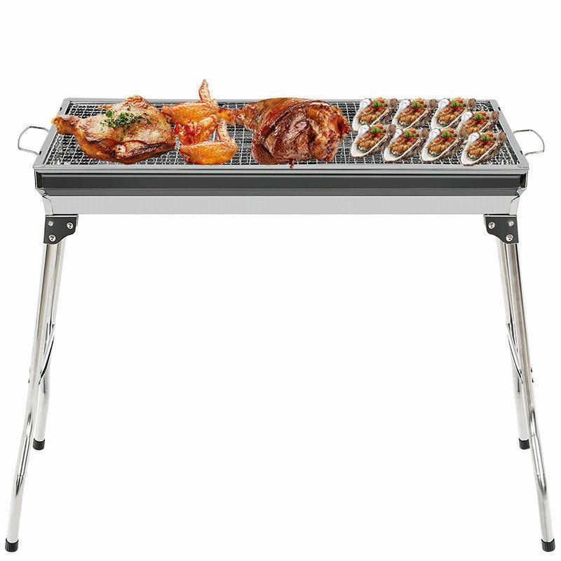 Fold Barbecue Charcoal Grill Stove Steel BBQ Patio