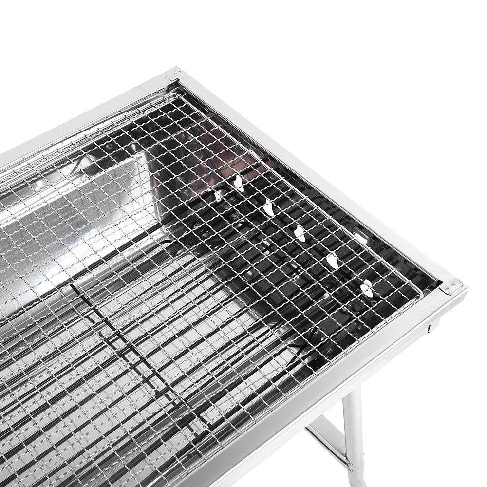 Fold Charcoal Stove Steel BBQ Camping