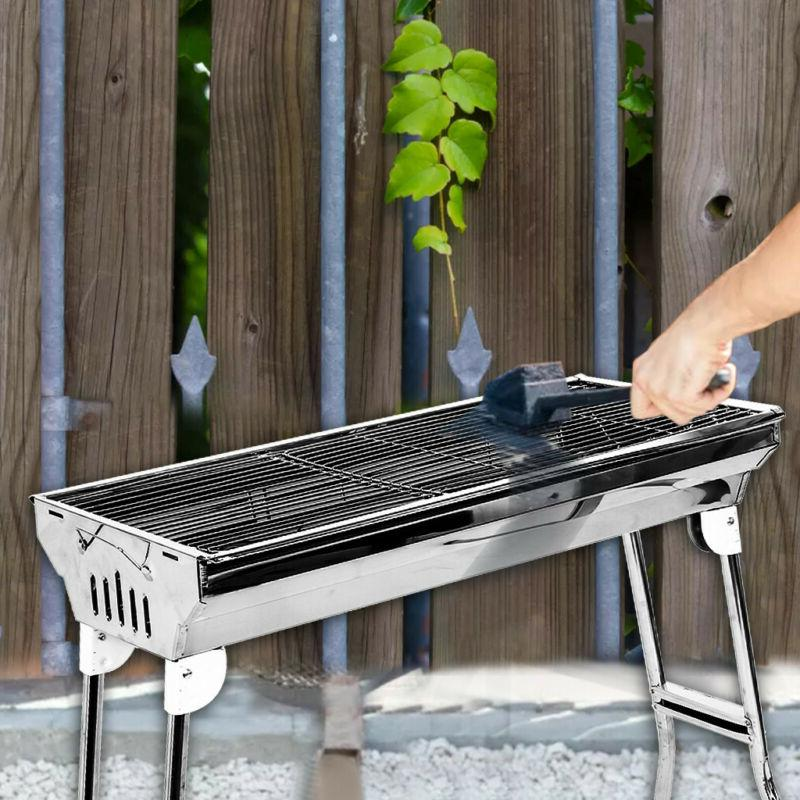 Foldable Barbecue Charcoal Grill Stove BBQ Patio Camping Shi