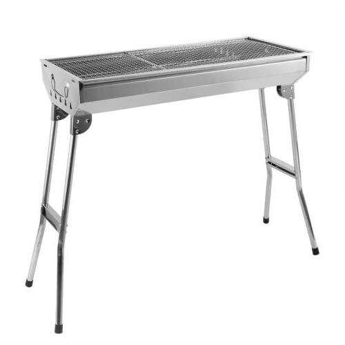 BBQ Barbecue Grill Stainless Steel Cooker Portable