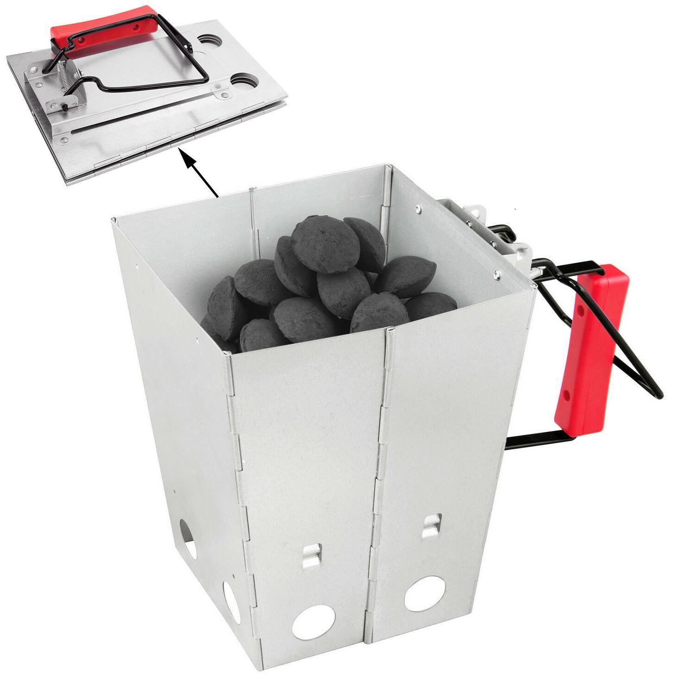 foldable charcoal chimney fire starter