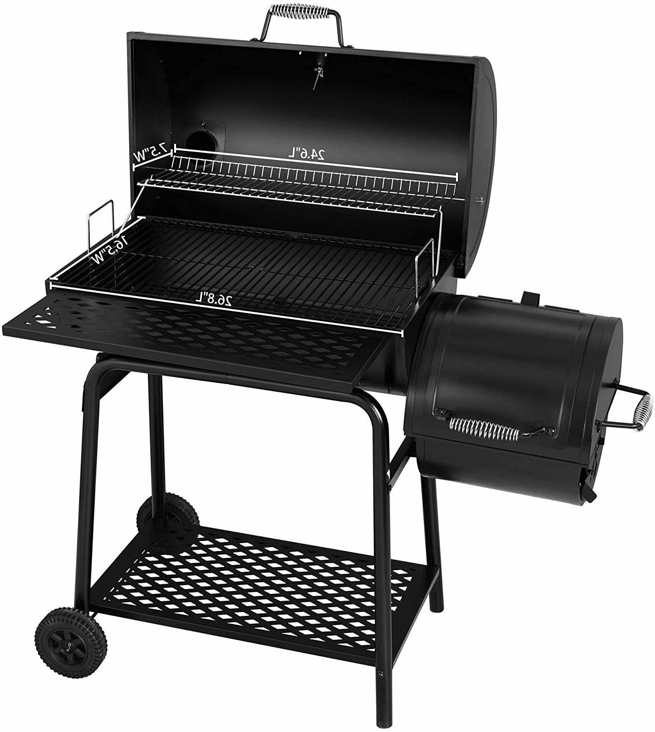 Royal CC1830F Grill with Offset Smoker, Black