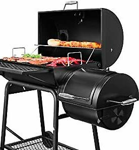 gourmet cc1830f charcoal grill with offset smoker