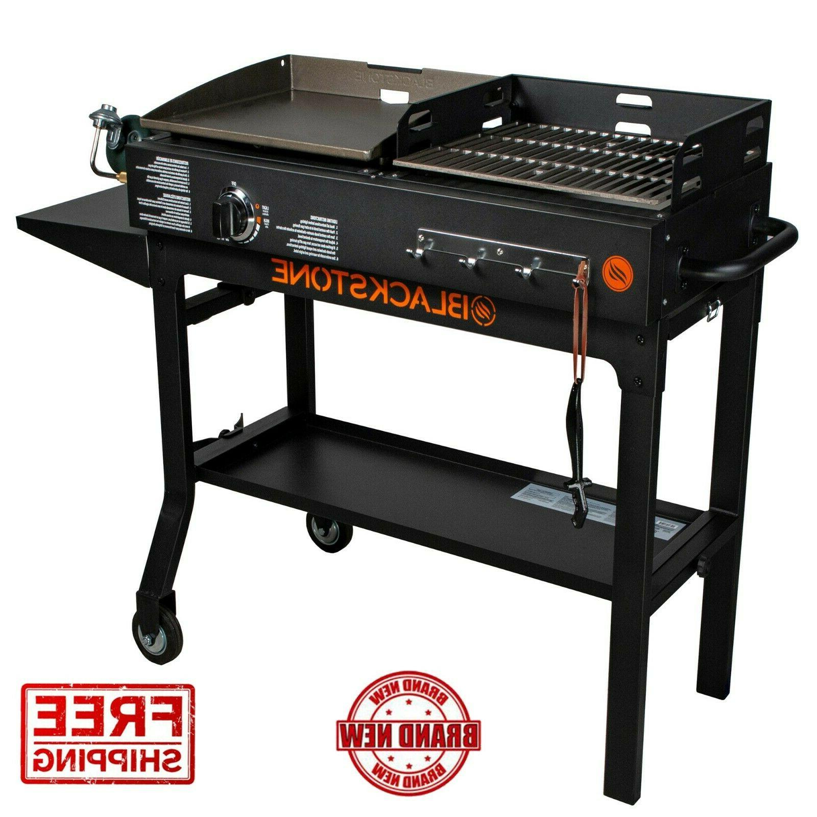 Blackstone Griddle Charcoal Grill Black Duo Combo Outdoor Co