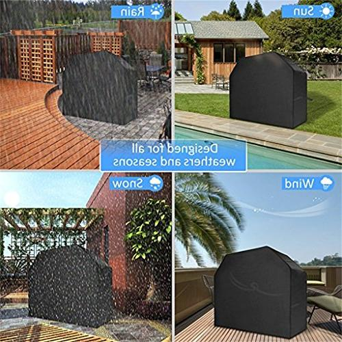 Grill Cover, Black Weather Resistant Waterproof Gas Grill BBQ Grill Cover Bag Holland Jenn Brinkmann Most