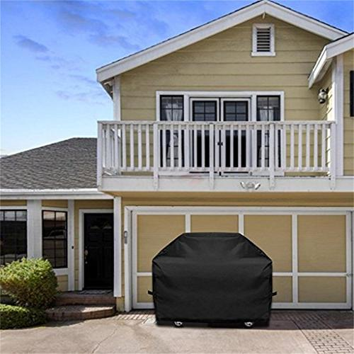 Grill Cover, Black Heavy Resistant Waterproof Outdoor Gas Covers Grill Cover with Bag for Weber Holland Jenn Brinkmann Most