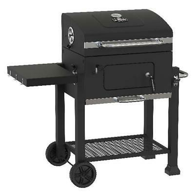 Heavy Duty 24-Inch Charcoal Grill Patio Barbecue Smoker BBQ