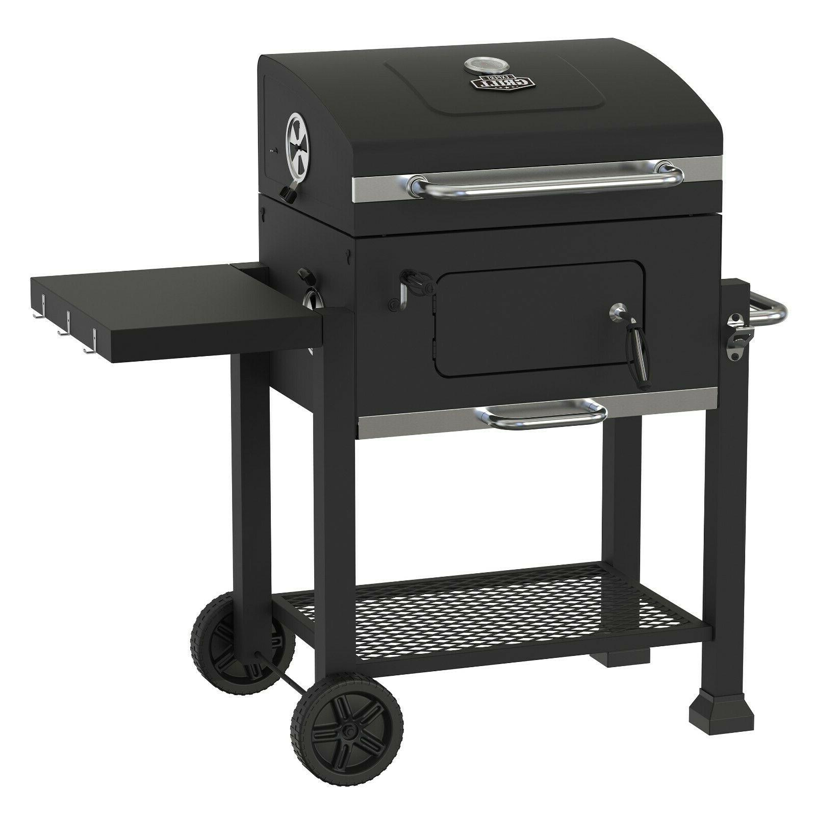 heavy duty charcoal grill bbq barbecue smoker