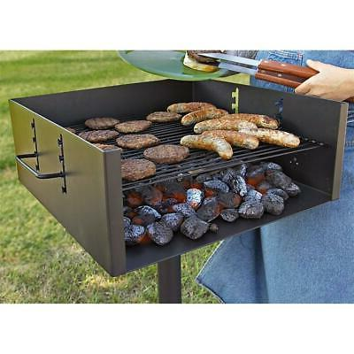 heavy duty park style charcoal grill extra