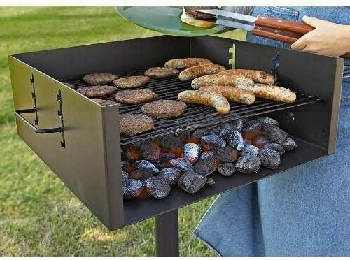 Guide Gear Heavy-Duty Park Style Grill Large Bbq Outdoor Cooking