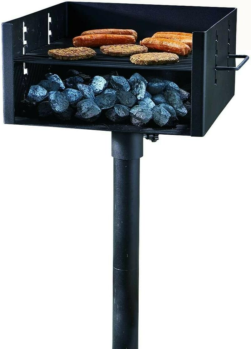 heavy duty park style grill large charcoal