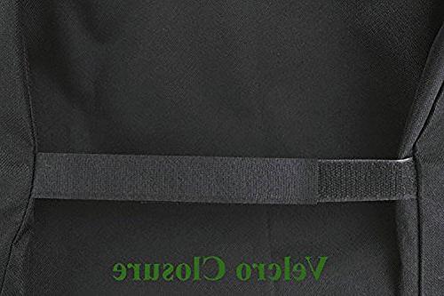 iCOVER 66 Heavy-Duty Patio Outdoor Black Offset BBQ Smoker G21610 Brinkmann Char Griller Oklahoma Landmann