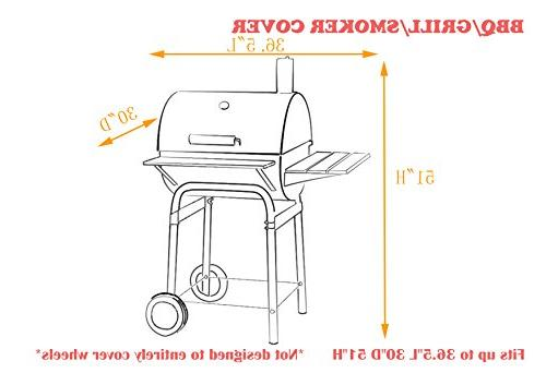 iCOVER-Grill-Smoker-Cover Griller Smoker 2823, 2123 Duty Canvas Weather Off-Set Cover G21616